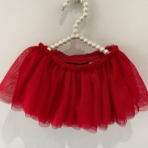 3 children's place tutus / pink, red and violet
